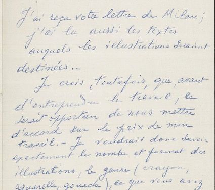 Three letters by de Chirico from an unpublished correspondence donated to the Foundation