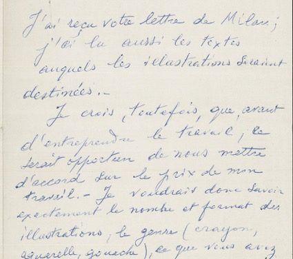 Carteggio inedito: donate alla Fondazione tre lettere manoscritte di Giorgio de Chirico