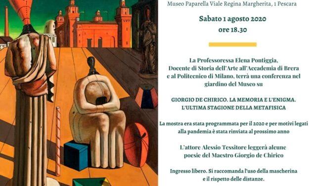 Giorgio de Chirico. La memoria e l'enigma. L'ultima stagione della metafisica